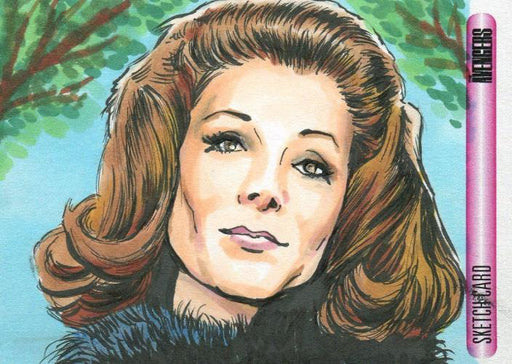 Avengers TV The Women Artist Matthew Parmenter Autograph Sketch Card   - TvMovieCards.com