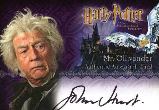 Harry Potter and the Sorcerer's Stone John Hurt Autograph Card   - TvMovieCards.com