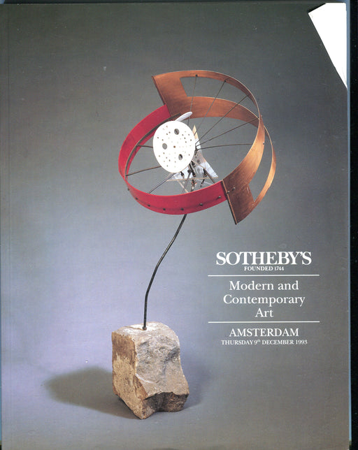 Sothebys Auction Catalog Dec 9 1993 Modern and Contemporary Art   - TvMovieCards.com