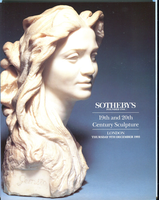 Sothebys Auction Catalog Dec 9 1993 19th & 20th Century Sculpture   - TvMovieCards.com