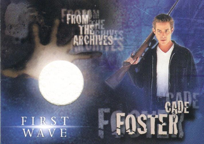 First Wave Sebastian Spence as Cade Foster Costume Card SPC1 Front
