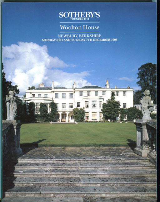 Sothebys Auction Catalog Dec 6 & 7 1993 Woolton House, Newbury, Berkshire   - TvMovieCards.com
