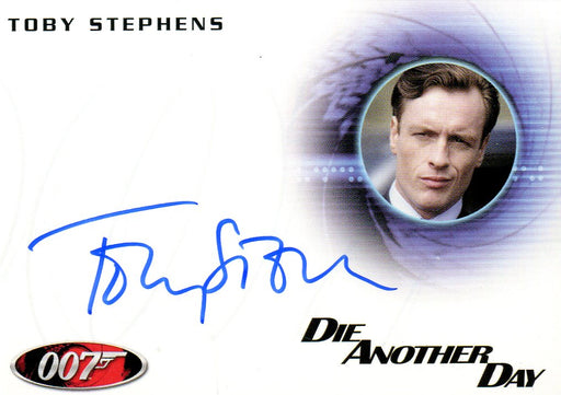 James Bond 50th Anniversary Series One Toby Stephens Autograph Card A180   - TvMovieCards.com