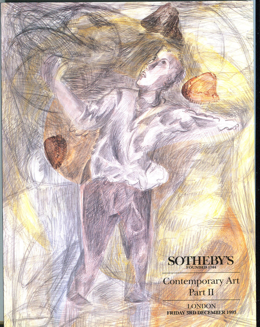 Sothebys Auction Catalog December 3 1993 Contemporary Art Part II   - TvMovieCards.com