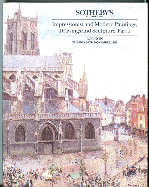 Sothebys Auction Catalog Nov 30 1993 Impressionist Modern Paintings Part I   - TvMovieCards.com