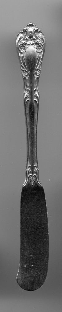 Chateau Rose Flat Butter Knife by Alvin Sterling Silver  5-3/4 Inch   - TvMovieCards.com