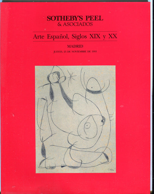 Sothebys Auction Catalog Nov 25 1993 Arte Espanol, Siglos XIX y XX   - TvMovieCards.com