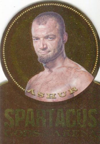 Spartacus Premium Packs Die Cut Gold Plaque Chase Card GG4 Front