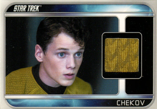 Star Trek The Movie 2009 Anton Yelchin as Chekov Costume Card CC5   - TvMovieCards.com
