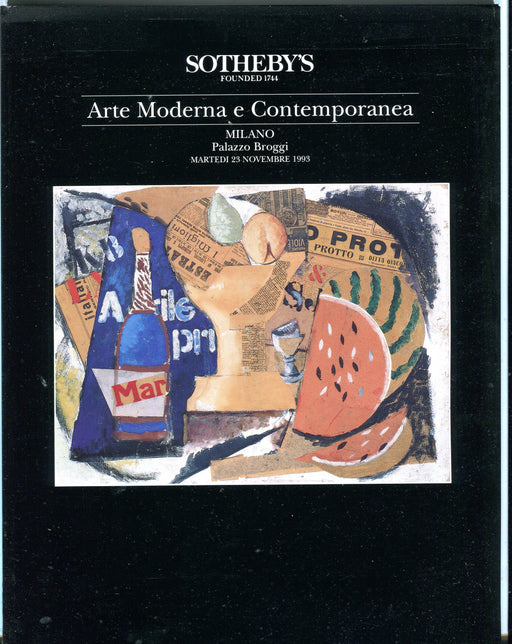Sothebys Auction Catalog Nov 23 1993 Arte Moderna e Contemporanea   - TvMovieCards.com