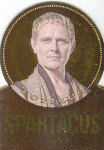 Spartacus Premium Packs Die Cut Gold Plaque Chase Card GG5 Front