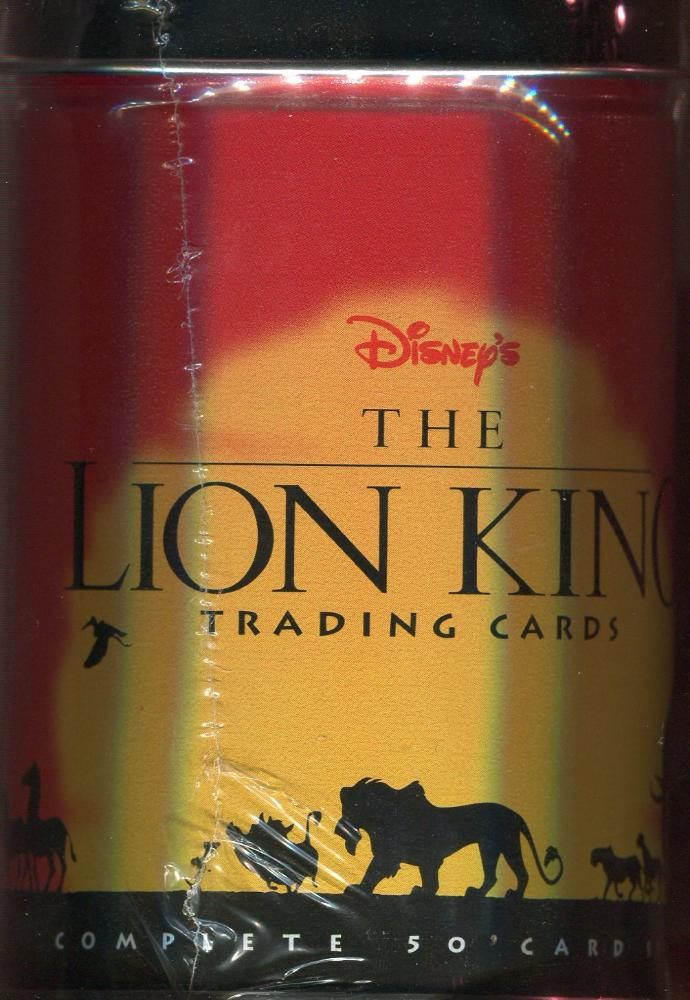 Lion King Disney Movie Tin Card Set Front
