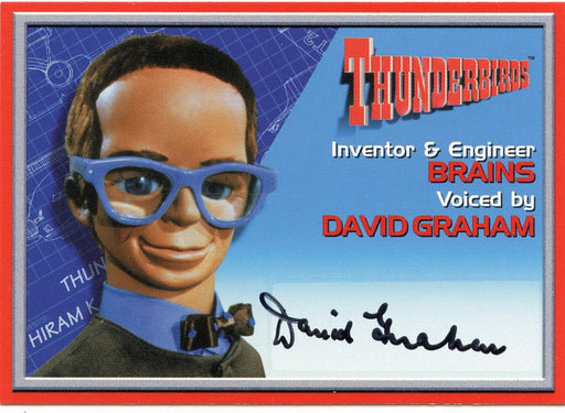 Thunderbirds Premium David Graham Autograph Card A6   - TvMovieCards.com