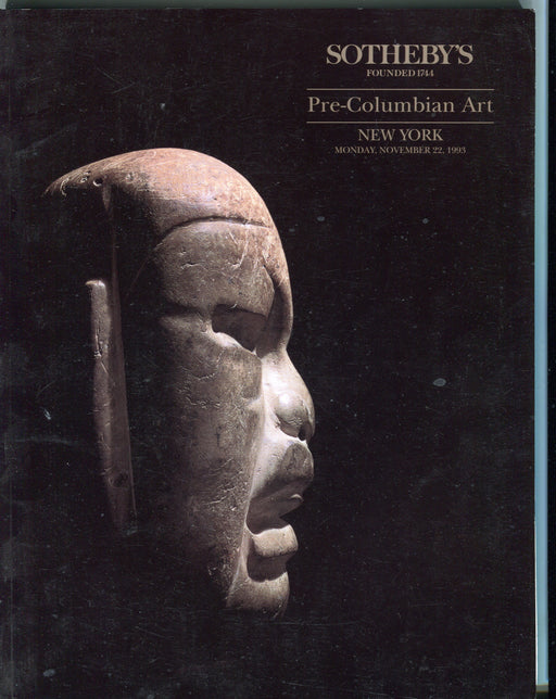 Sothebys Auction Catalog Nov 22 1993 Pre-Columbian Art   - TvMovieCards.com