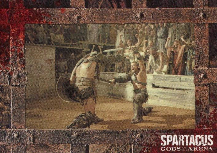 Spartacus Premium Packs Gladiators in Action Chase Card G2 Front