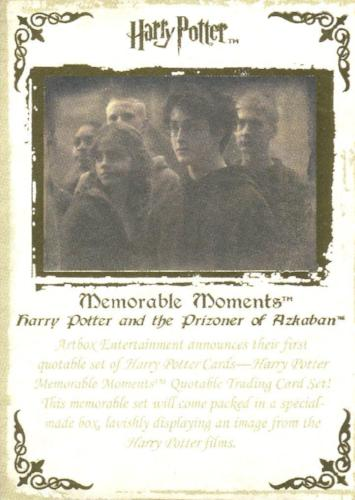 Harry Potter Memorable Moments Gold Foil Promo Card Promo 3   - TvMovieCards.com