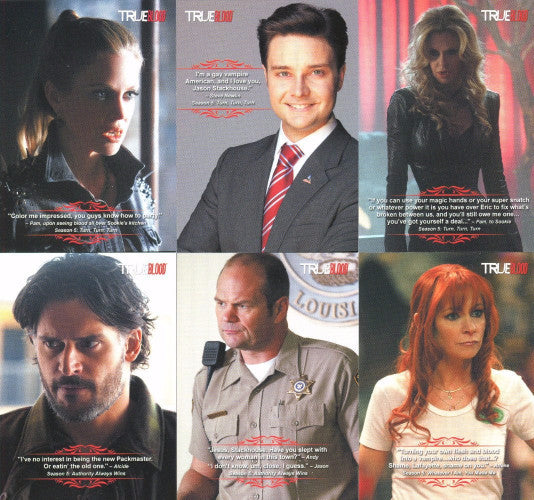 True Blood Archives Quotable Chase Card Set Front1