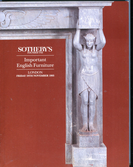 Sothebys Auction Catalog Nov 19 1993 Important English Furniture   - TvMovieCards.com