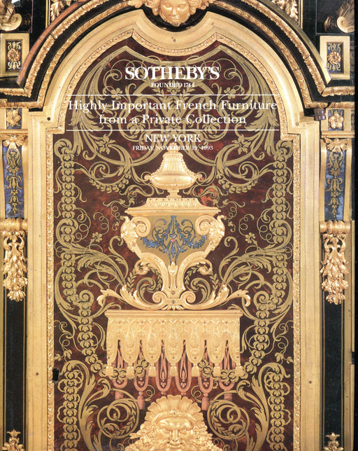 Sothebys Auction Catalog Nov 19 1993 Highly Important French Furniture   - TvMovieCards.com
