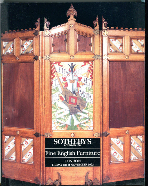 Sothebys Auction Catalog Nov 12 1993 Fine English Furniture   - TvMovieCards.com