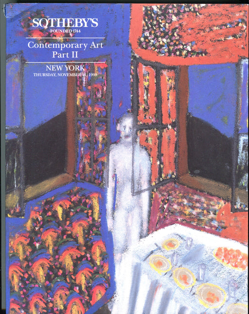 Sothebys Auction Catalog Nov 11 1993 Contemporary Art Part II   - TvMovieCards.com
