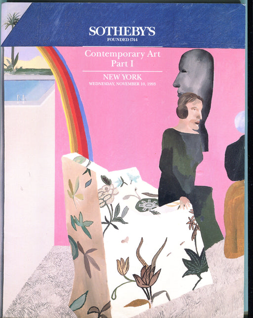 Sothebys Auction Catalog Nov 10 1993 Contemporary Art Part I   - TvMovieCards.com