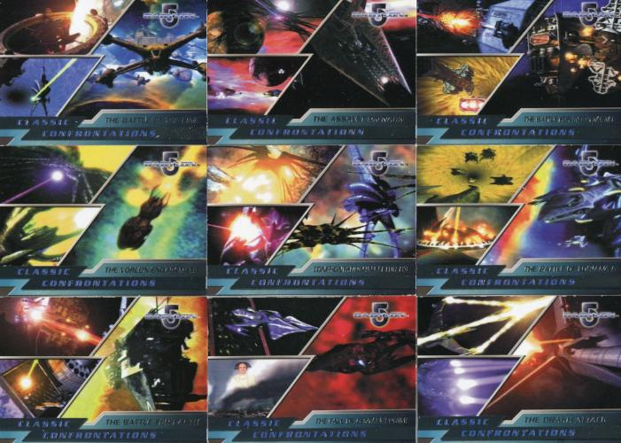 Babylon 5 Complete Classic Confrontations Chase Card Set 9 Cards   - TvMovieCards.com