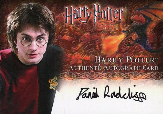 Harry Potter and the Goblet of Fire Update Daniel Radcliffe Autograph Card  Front