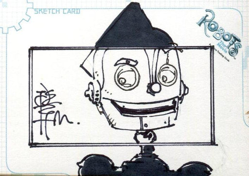 Robots Movie Artist Tone Rodriguez Autograph Sketch Card SK.2 #109/528   - TvMovieCards.com
