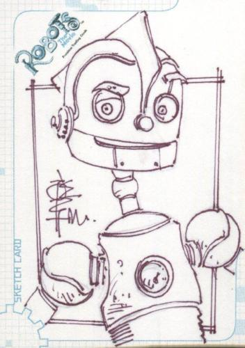 Robots Movie Artist Tone Rodriguez Autograph Sketch Card SK.2 #257/528   - TvMovieCards.com