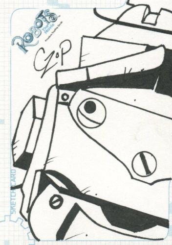 Robots Movie Artist John Czop Autograph Sketch Card SK.3 #170/300   - TvMovieCards.com