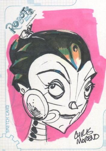 Robots Movie Artist Chris Moreno Autograph Sketch Card SK.4 #471/524   - TvMovieCards.com