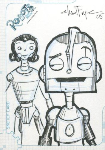 Robots Movie Artist Chad Frye Autograph Sketch Card SK.5 #474/515   - TvMovieCards.com