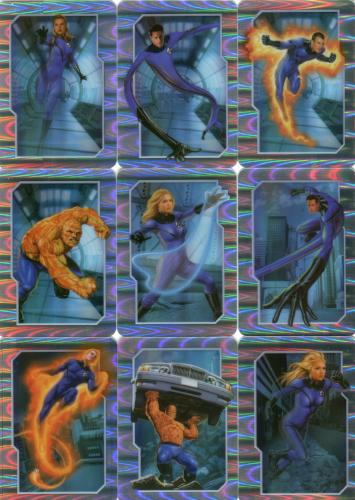 Fantastic Four Movie Holo Celz Chase Card Set 12 Cards 2005 Cards Inc.   - TvMovieCards.com