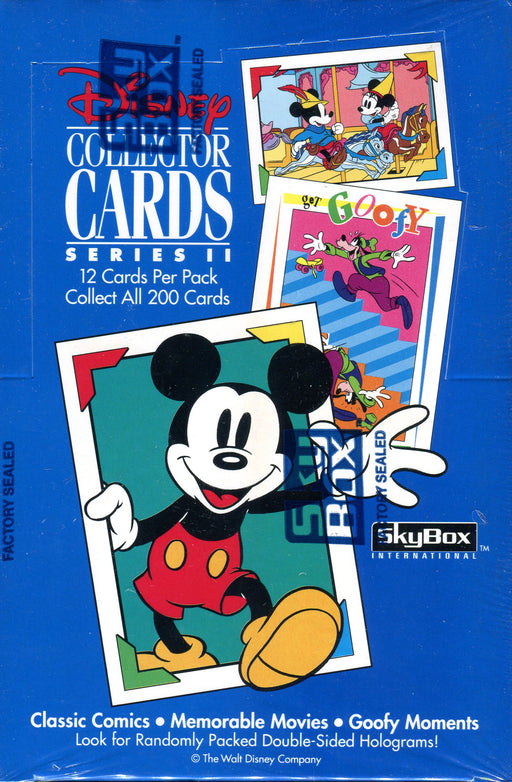 Disney Collector Cards Series II Vintage Card Box 36 Packs Skybox 1992   - TvMovieCards.com
