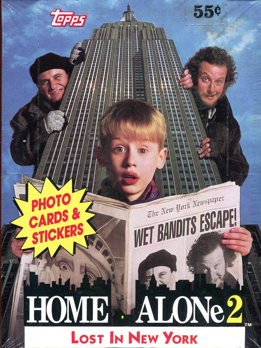 Home Alone 2 Movie Vintage Trading Card Wax Box 36 Packs Topps 1992   - TvMovieCards.com