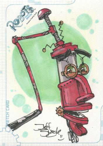 Robots Movie Artist Jeff Zugale Autograph Sketch Card SK.7 #31/501   - TvMovieCards.com
