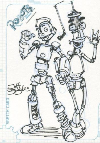 Robots Movie Artist Jeff Zugale Autograph Sketch Card SK.7 #42/501   - TvMovieCards.com