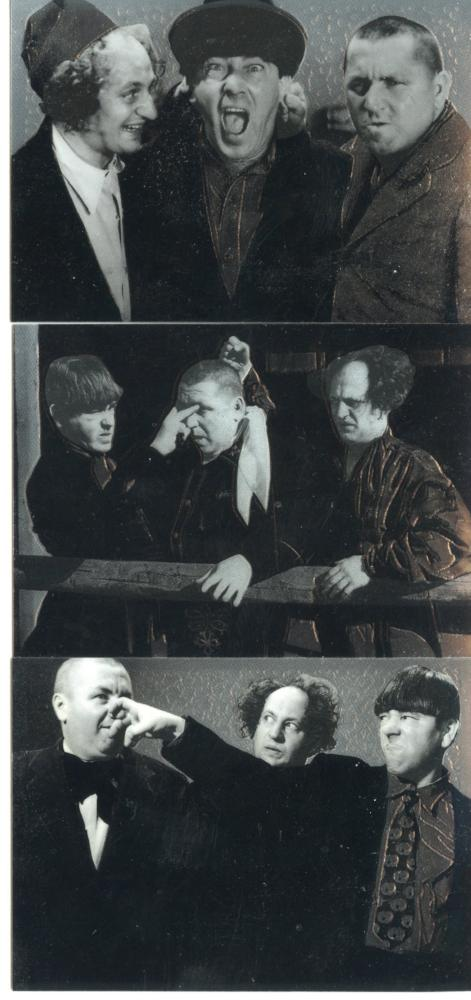 Three Stooges Chrome Card Set C1 C2 C3 DuoCards  1997   - TvMovieCards.com