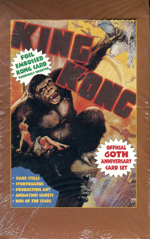 King Kong 60th Anniversary Vintage Trading Card Box 36 Packs Eclipse 1993   - TvMovieCards.com