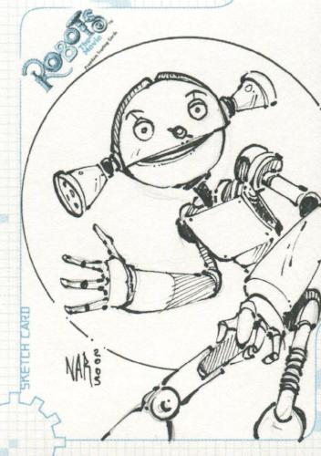 Robots Movie Artist Nar Autograph Sketch Card SK.9 #91/404   - TvMovieCards.com
