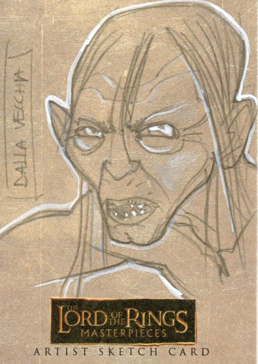Lord of the Rings Masterpieces Sketch Card by Dalla Vecchia  Gollum   - TvMovieCards.com