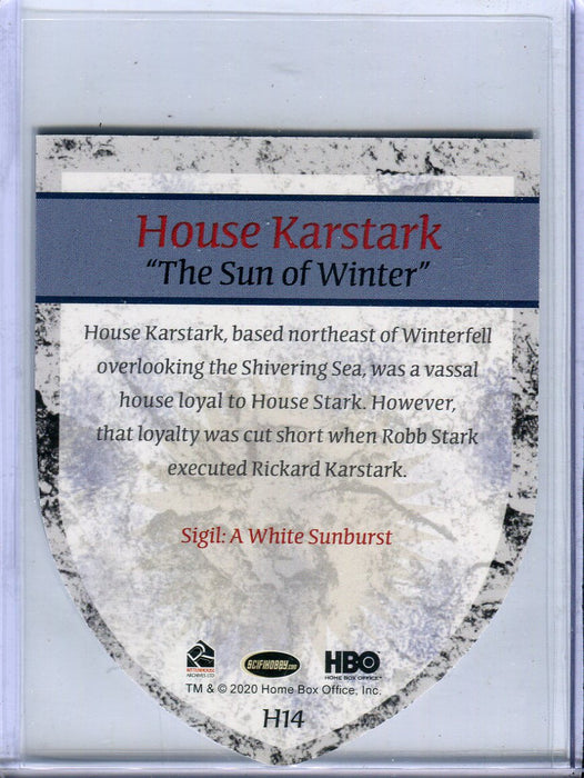 Game of Thrones Complete House Karstark Case Topper Chase Card H14   - TvMovieCards.com