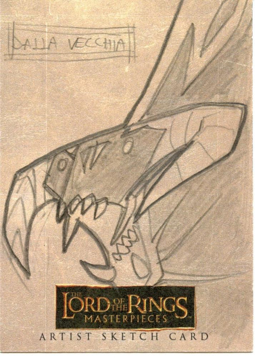 Lord of the Rings Masterpieces Sketch Card by Dalla Vecchia  Balrog   - TvMovieCards.com