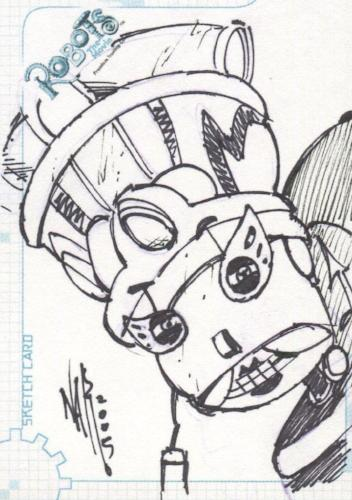 Robots Movie Artist Nar Autograph Sketch Card SK.9 #202/404   - TvMovieCards.com