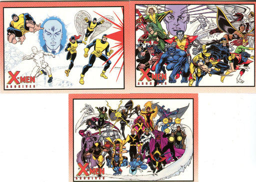 X-Men Archives Promo Card Lot 3 Cards P1 P2 P3   - TvMovieCards.com