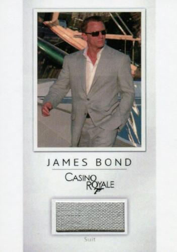 James Bond Archives Final Edition 2017 Relic Costume Card PR23 #181/200   - TvMovieCards.com