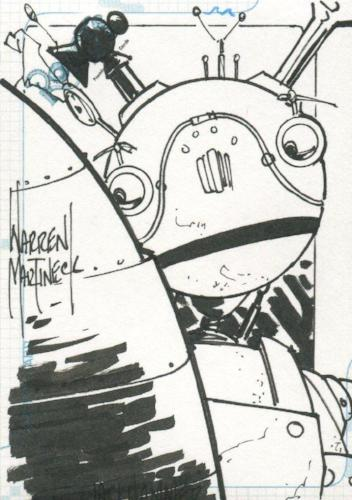 Robots Movie Artist Warren Martineck Autograph Sketch Card SK.10 #279/300   - TvMovieCards.com