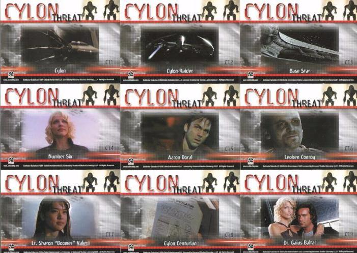Battlestar Galactica Premiere Edition Cylon Threat Chase Card Set 9 Cards   - TvMovieCards.com