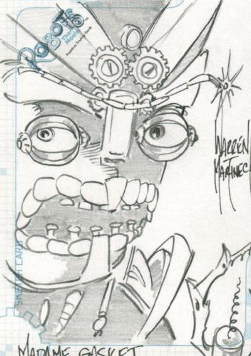 Robots Movie Artist Warren Martineck Autograph Sketch Card SK.10 #177/300   - TvMovieCards.com